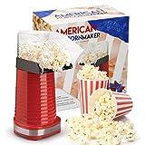 Global Gourmet macchina per i popcorn 1200W   Macchina per popcorn gourmet   Il miglior dispositivo per popcorn: privo di grassi e salutare