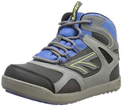 Hi-Tec Ridge Waterproof, Boys' Hiking Boots, Dark Grey/Royal Blue, 13 UK Child