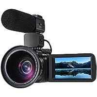 ORDRO Professionelle 10x Optischer Zoom Camcorder Full HD 1080P 30FPS Digitale Videokamera mit Externem Mikrofon und Weitwinkelobjektiv 3,0 Zoll LCD Touch Screen Fernbedienung (Z82+M+W)
