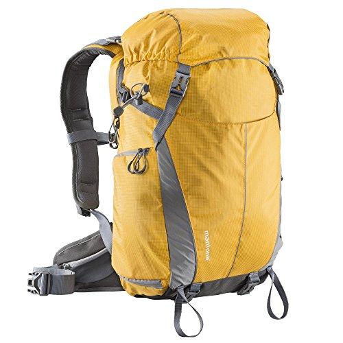 Mantona Elements Outdoor Rucksack (inkl. Regenschutzhülle, Laptop/Tabletfach, herausnehmbarer Kameratasche mit Tragegurt, geeignet für DSLR, Systemkamera, zwei Objektive und Kleinzubehör) orange