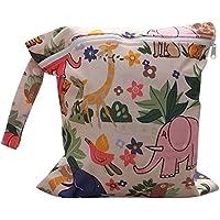 Newin Star Bolsa de Pañales,Bolsa de Paã±Ales con Dibujo Animal con Cremallera para Madre (Impermeable/Reutilizable)