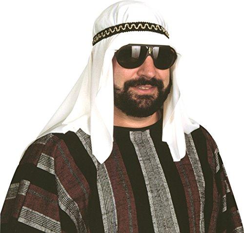 (Sheik Kopfschmuck Kostüm für Erwachsene Wüste Prince Araber Sultan Kit Hat Shiek)