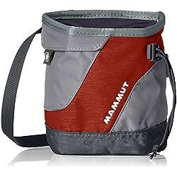 Mammut Ophir Chalk Bag Bolsa de Magnesio de Escalada, Unisex Adulto, Rojo (Lava) / Gris (Iron), Talla Única