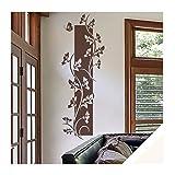 Exklusivpro Wandtattoo Wandbanner Blumen Ranke Wohnzimmer Schlafzimmer Bordüre (ban41 cremeweiß) 120 x 41 cm mit Farb- u. Größenauswahl
