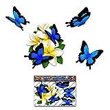 Blume Weiß Frangipani Plumeria Kleine Bündel + Schmetterling Tier Auto Aufkleber - ST00046WT_SML - JAS Aufkleber