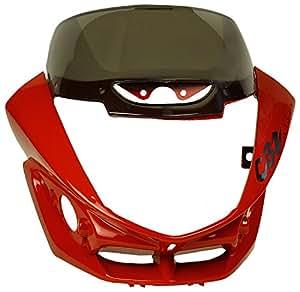 Sai SAI-178A Headlight Visor with Glass for Hero CBZ Xtreme Sports (Red)