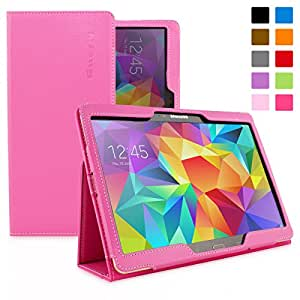Snugg Galaxy Tab S 10.5 Case - Smart Cover with Flip Stand & Lifetime Guarantee (Hot Pink Leather) for Samsung Galaxy Tab S 10.5
