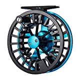 Piscifun Aoka - Carrete de Pesca con Mosca de Aluminio con Sistema de Arrastre de Discos de Corcho/teflón, Aoka-5/6 Reel, Blue Reel