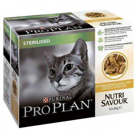 purina-proplan-cat-nutrisavour-sterilised-poulet-10-pochons-85-grs