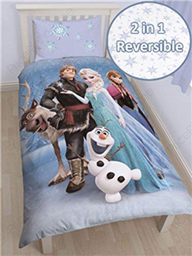 Funda nórdica Frozen Elsa Anna estrellas Princesa Reversible Disney Invierno 2016