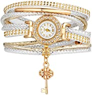 Shining Diva Fashion Luxury AAA Crystal Multilayer Watch Gold Plated Stylish Bracelet for Women and Girls