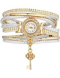 Shining Diva Fashion Luxury Watch Bracelet Gold Plated Charm Bracelet for Women (Gold)(9829bw)