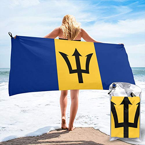 bikini bag Flag of Barbados Bath Swimming Pool Yoga Pilates Picnic Blanket Quick Dry Beach Towels 31.5