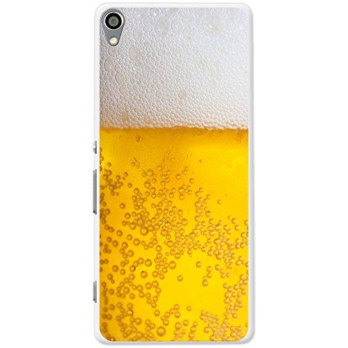 Nahaufnahme schaumiges Bier weiße Krone Hartschalenhülle Telefonhülle zum Aufstecken für Sony Xperia XA