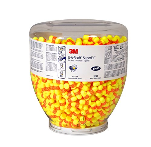 3M Ohr pd01007-Stecker, Classic, Super Fit, 33Refill Flasche, gelb/orange (500Stück)