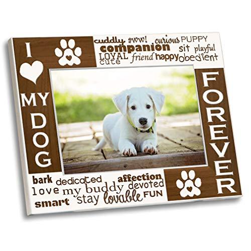 PVGold High End Bilderrahmen mit weißem Hund I Love My Dog 5