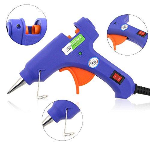 confronta il prezzo Wisfox mini elettrico pistola per colla a caldo con 50 pezzi di colla stick blu ad alta temperatura di fusione Glue Gun Trigger kit flessibile per progetti fai-da-te e kit di riparazione miglior prezzo