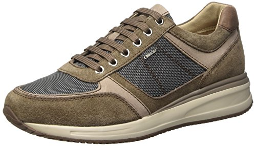 Geox U Dennie B Scarpe Low-Top, Uomo, Grigio (Dove Grey/Shells), 41