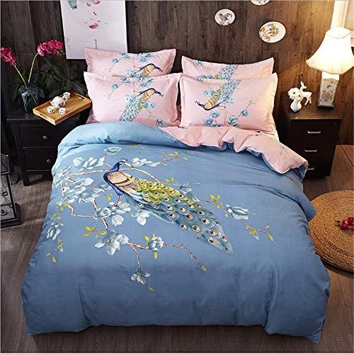 SHJIA Bettwäsche Set Blumen Muster Bett Auskleidungen Bettbezug Kissen Abdeckung Set Bettwäsche