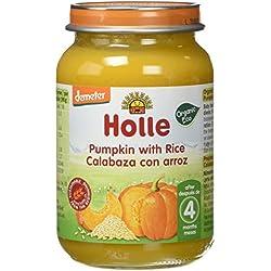 Holle Potito de Calabaza con Arroz (+4 meses) - Paquete de 6 x 190 gr - Total: 1140 gr