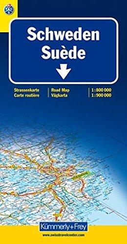 Schweden 1 : 800 000 / 1 : 900 000: Straßenkarte (Kümmerly+Frey Strassenkarten): Alle Infos bei Amazon
