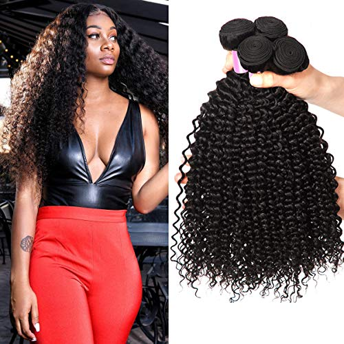 Ocean Wave Bundles Deal Brazilian Human Hair Pre Colored Weave Beauty Plus Nonremy Bouncy Curly Black Water Wave Hair Extensions Dependable Performance Human Hair Weaves Hair Weaves