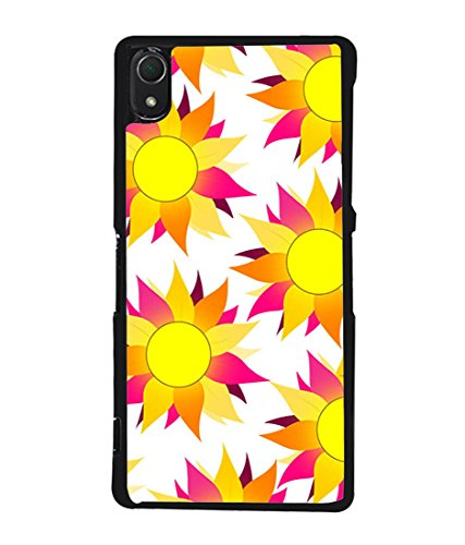 PrintVisa Designer Back Case Cover for Sony Xperia Z2 (Love Pattern Multi colour love Pink Lovers Designer Case cream color background Cell Cover valentine Smartphone Cover love proposal for girl friend)  available at amazon for Rs.395