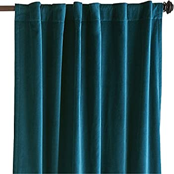 Thick Heavy Lined Velour Curtains Dove Grey Silver Size