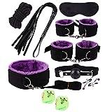 8 pezzi di peluche Black Purple per coppia, compra e regala due dadi glow adesso