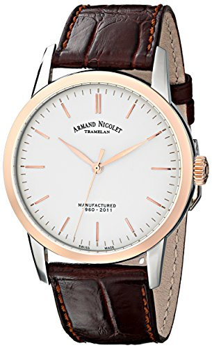 Armand Nicolet Men's 8670A-AG-P670MR1 L10 Limited Edition Two-Toned Classic Hand Wind Watch