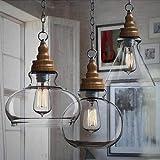 nostralux® Premium moderne Retro sacndinavian Style Glas Deckenlampe Lampe Industrie Pendelleuchte, das mit einem E27Hängelampe Halter–2016New Edition, Glas, Glass Wide 60.00 wattsW 220 voltsV