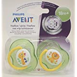 Avent Freeflow Soother Twin Pack 18m+ (Giraffe/Lion)