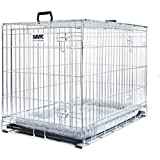 Easy To Assemble Metal Dog Cage With Cushion. Keep Your Dogs Safe During Transport & Also Give Your Pet Somewhere Protected And Comfortable At Home.