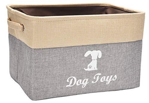 Aufbewahrungskorb aus Leinen, ideal für die Aufbewahrung von Hundespielzeug, Hunde-Shirts, Hundejacken, Hundejacken, - Kiste Hundespielzeug Für
