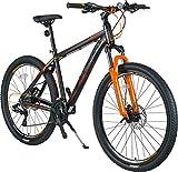 KRON XC-150 High-Class Aluminium Mountainbike 27.5 Zoll | 24 Gang Shimano Kettenschaltung, Hydraulische Shimano Scheibenbremse, Lockout Gabel | 18 Zoll Rahmen | Schwarz & Orange