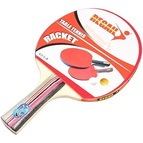 Docooler 2 Ping Pong Racchetta + Sfera 3 + 1 Borsa Racchetta Manico Lungo Tremolio della Mano