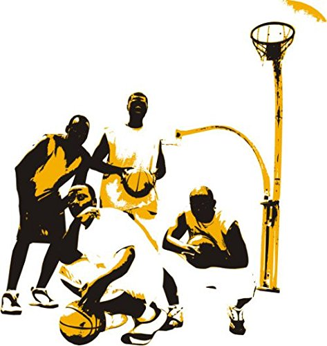 INDIGOS 4051719924138 Wandtattoo  MD187 NBA-Star 60 x 56 cm, bunt farbig (Nba-geschichte)