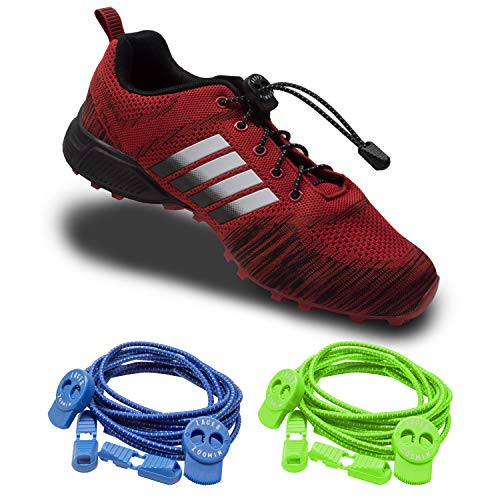 timeless design dfa21 97fc4 ZOOMIN Fitness No Tie Elastic Shoe Laces with Lock   Quick Laces  Easy Tie  Laces