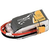 Tattu Batería LiPo 1550mAh 14.8V 75C 4S para Multicopteros FPV Racing Helicópteros Barcos y modelos RC diversos