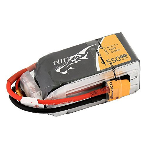 Tattu 1550mAh 14.8V 75C 4S1P Lipo Akku Pack für UAV Drones FPV Racing Quadcopters Flugzeug wie IRC Vortex 250 Pro 285, Gaui Eclipse E28R