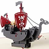 Cold Toy 3D Pop Up Karte Piratenschiff Kindertag Geburtstag Danke Weihnachtsgruß