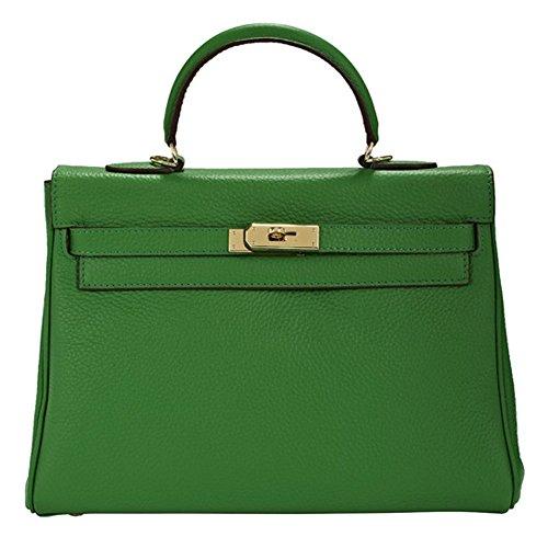 Macton , Damen Henkeltasche grün Green 32CM (Bag Birkin Vintage)