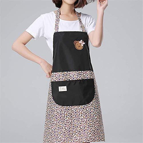 Sie Machen Hause Katze Kostüm Zu - YXDZ (2 Stück Küchenschürze Koreanische Mode Wasserdicht Und Ölbeständig Damenoverall Süß Kochen Zu Hause Grill Pizza Schürze Schwarz
