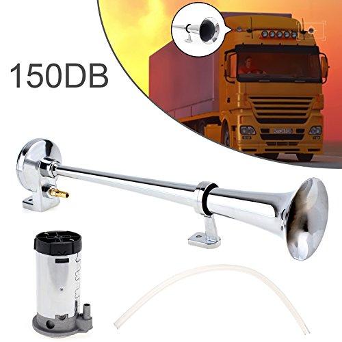 43,2 cm 150dB Super Laut 12V Single Trumpet Air Horn-Kompressor-Set für Autos/Trucks/Boote/Motorräder/Fahrzeuge -
