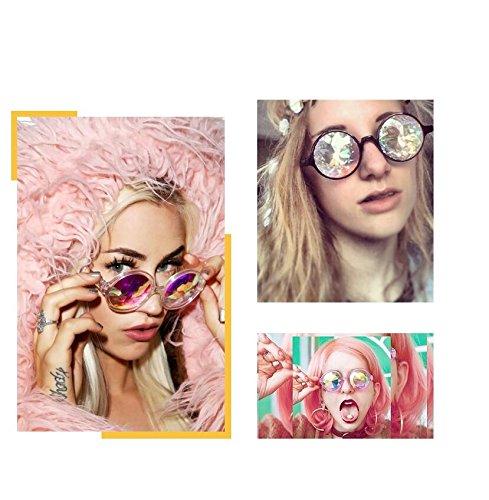 PDHU Kaleidoskop-Brille, Rave Festival, Party, EDM, Diffracted Lens Sonnenbrille