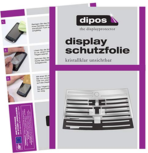 dipos 2X klare Schutzfolie kompatibel mit Philips HD8847/10 Tropfblech I Kaffeevollautomaten I Abtropfblech I Abtropfgitter kompatibel mit Kaffee-Maschine