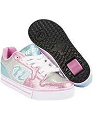 Heelys Motion Plus Silver//Light Pink/Light Blue