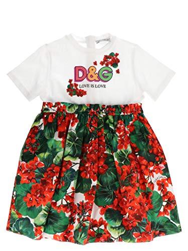 DOLCE E GABBANA Kleines Mädchen L2jd1kg7trms9000 Rot Baumwolle Kleid - Dolce Gabbana Kleid Schuhe