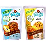 VVO Ready To Eat Freeze Dried Fresh Chikoo & Mango (Best For Summer Milkshakes & Ice-creams) (Pack Of 2)