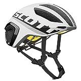Scott Cadence Plus Triathlon Rennrad Fahrrad Helm weiß/schwarz 2019: Größe: M (55-59cm)